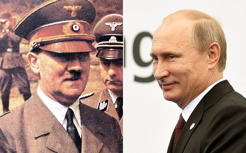 Russian president says he sees nothing wrong with treaty with Nazi Germany   that led to the carve-up of Poland - and blames Britain for destroying any   chance of an anti-fascist front