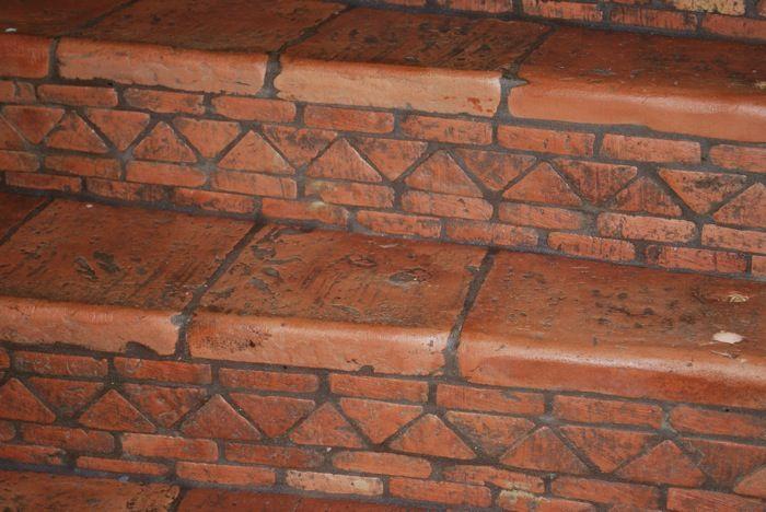 Saltillo Tile Stairs Step Raiser And Terracotta Steps