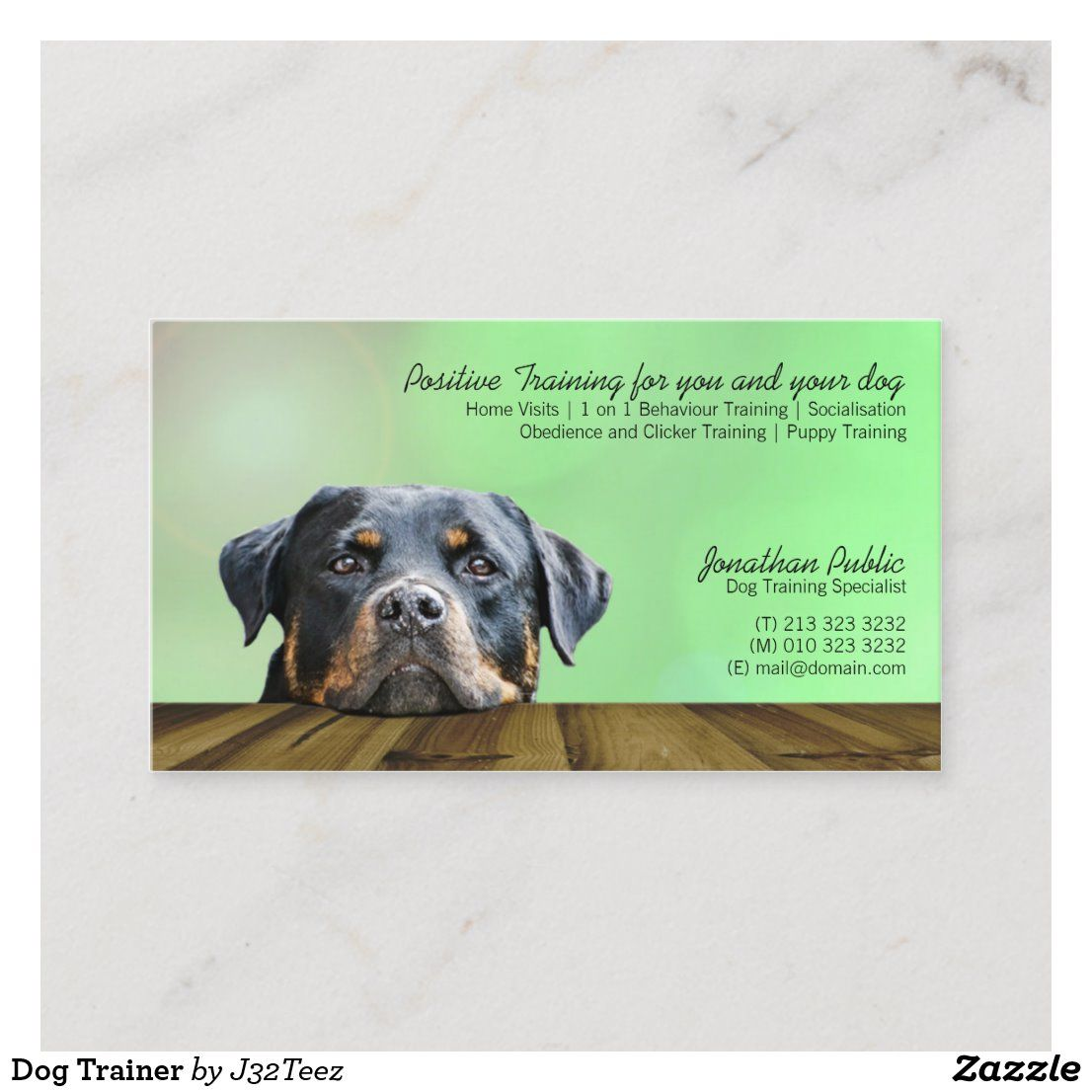 Dog Trainer Business Card Zazzle Com In 2020 Dog Trainer Dog