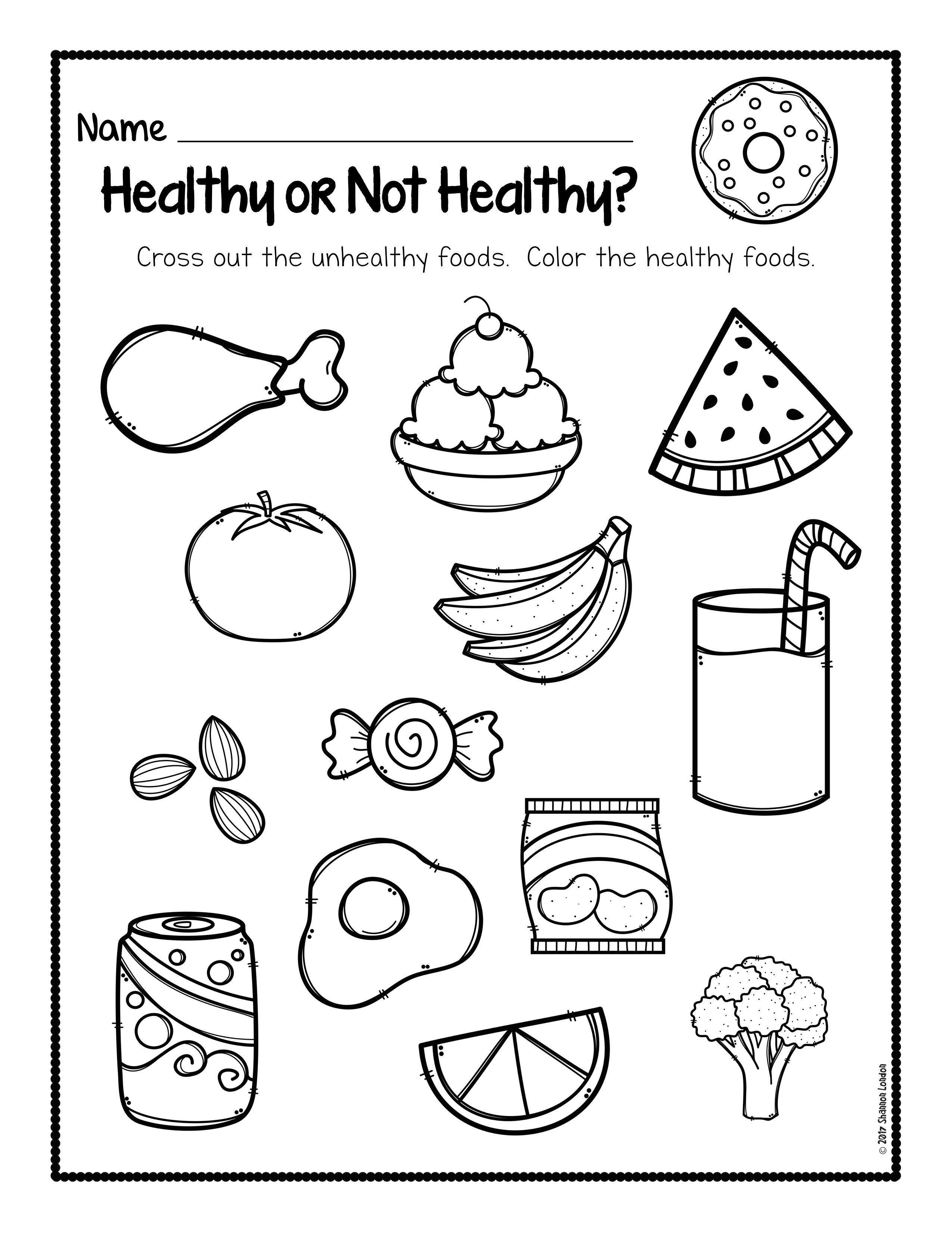 Healthy Foods Worksheet FREE DOWNLOAD   Healthy habits for kids [ 3300 x 2550 Pixel ]