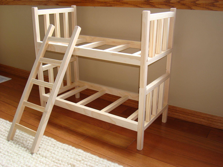 Handmade barbie furniture handmade bunk beds barbie for Stick furniture plans