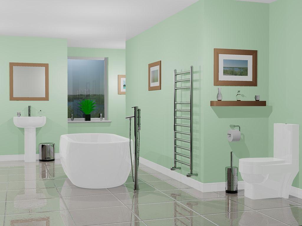 Charming Light Green Bathroom Ideas Part - 8: Classic Green Bathroom Design Color Listed In: Green Bathroom,
