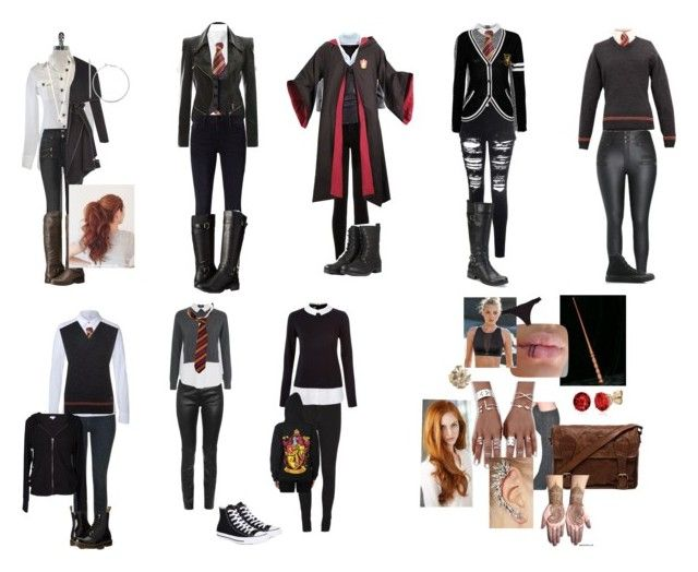 Aj S Hogwarts Sorting Outfit And School Uniforms Second Chances Harry Potter Fanfic Oc Outfits Frame Denim School Uniform