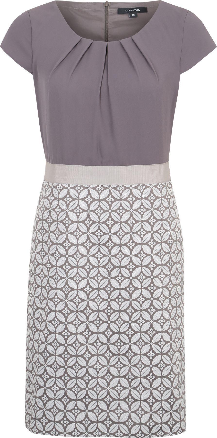 Kleid Mit Gemustertem Rockteil Kleider Cocktailkleid Outfit