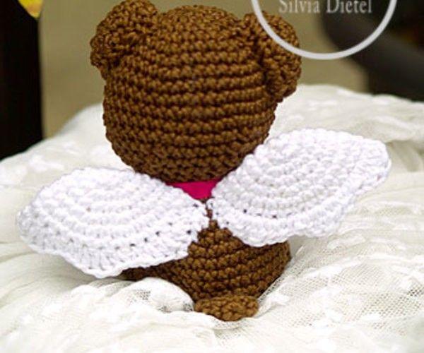Gratis Bär Häkeln Flügel Engelbär Süß Häkeln Amigurumi