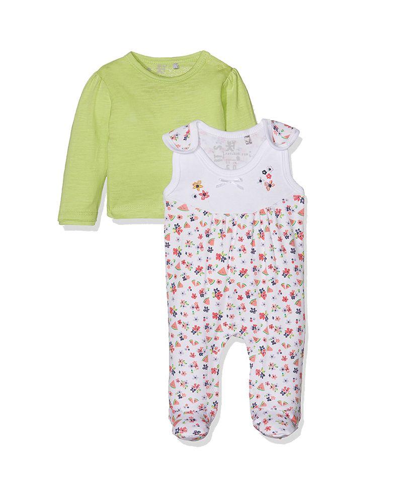 00acf3c7348 Φορμάκι bebe κορίτσι με σχέδιο λουλουδάκια-καρπουζάκια   Poulain.gr Φόρμες,  Ρούχα,