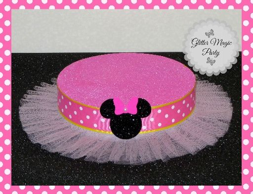 Minnie Mouse Tutu Stand - Lollipops or Cakepops Stand - Minnie Mouse Party Decoration - Minnie Mouse Polka dots