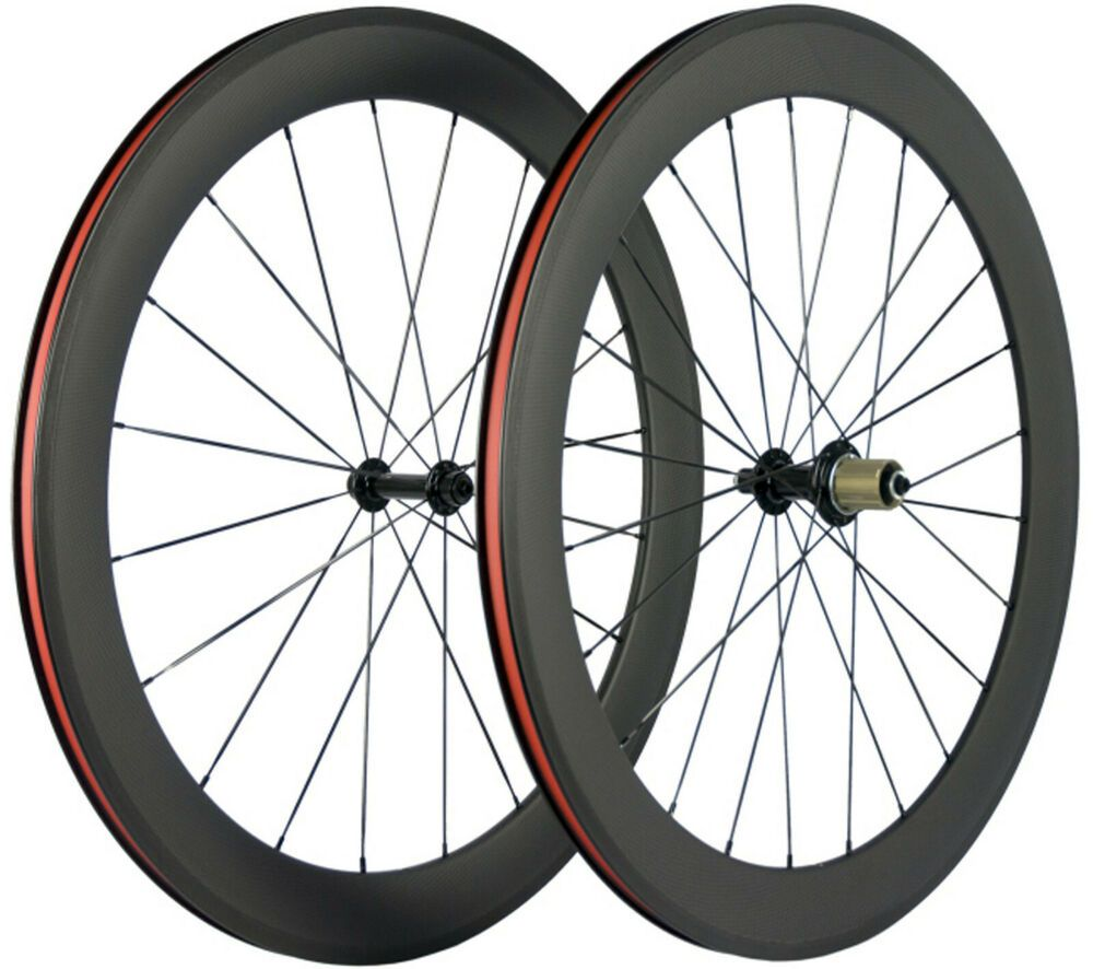 Details About 60mm Carbon Wheels Road Bike Clincher Bicycle
