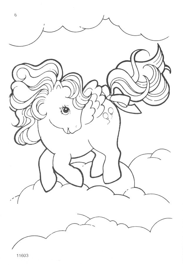 My Little Pony G1 Coloring Pages My Little Pony Coloring Vintage My Little Pony My Little Pony Tattoo