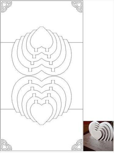 Pop Heart Diy Pop Up Cards Pop Up Card Templates Kirigami Templates