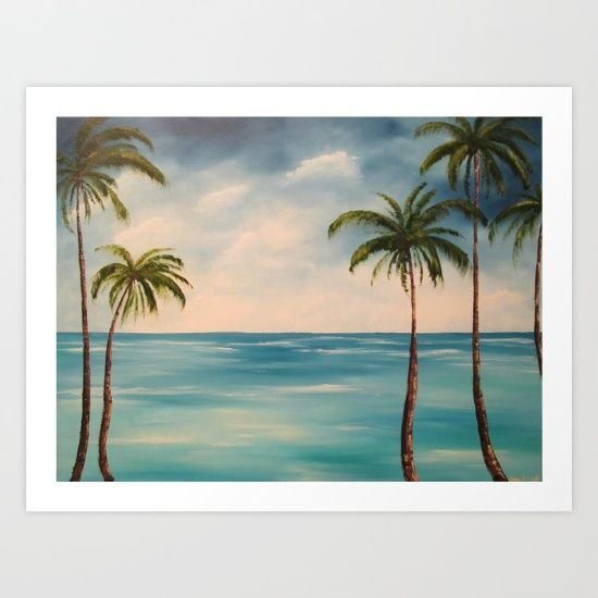 A place in my mind for relaxation. <br/> <br/> palms, palm trees, beach, ocean, landscape, sea, tropical, blue