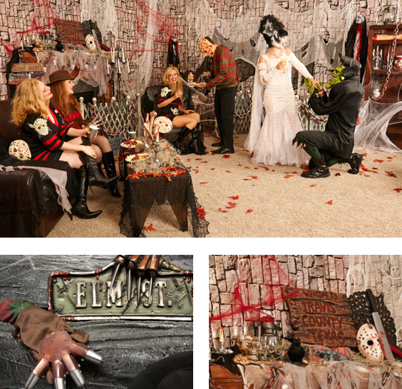 horror movie themed halloween party via buycostumes ad
