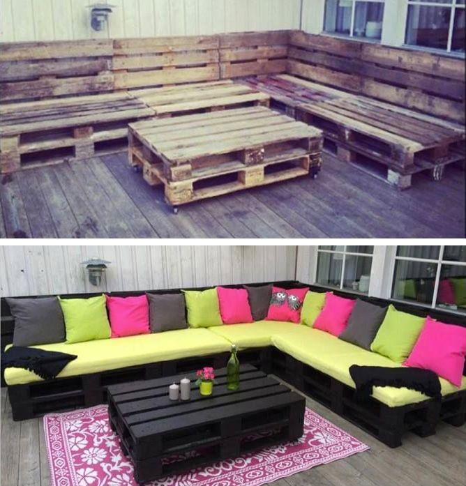 Risultati immagini per Riciclo dei pallet: 48 idee per creare mobili con bancali per casa e giardino