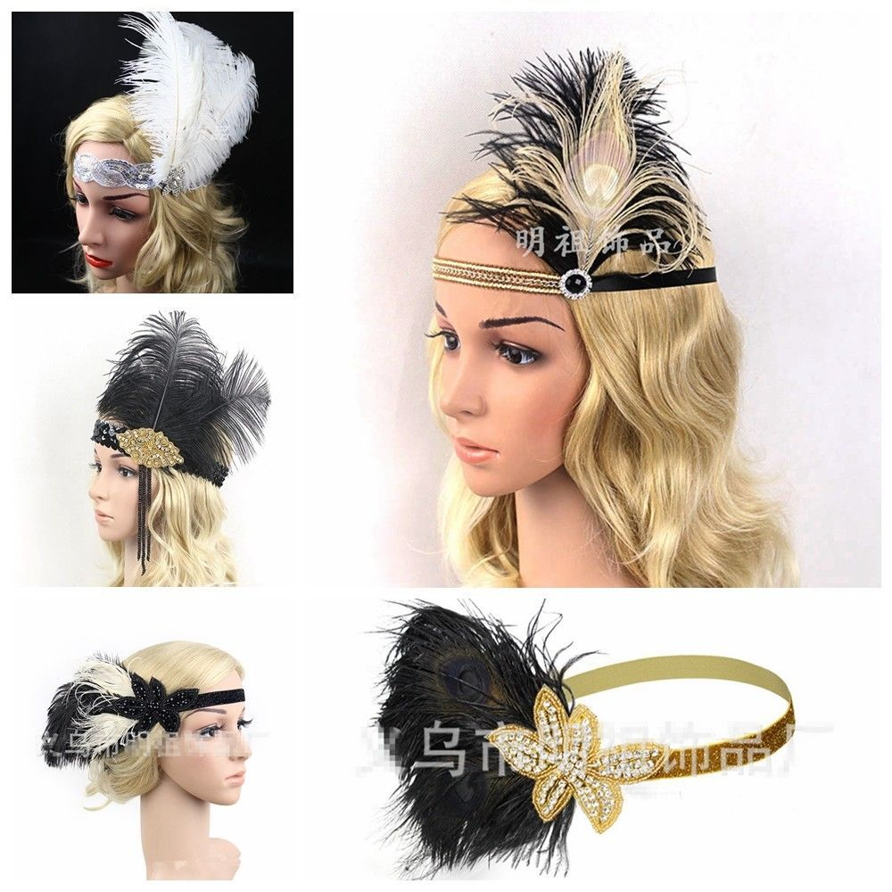 $3.99 - Great Gatsby Headpiece Feather 1920S Flapper ...
