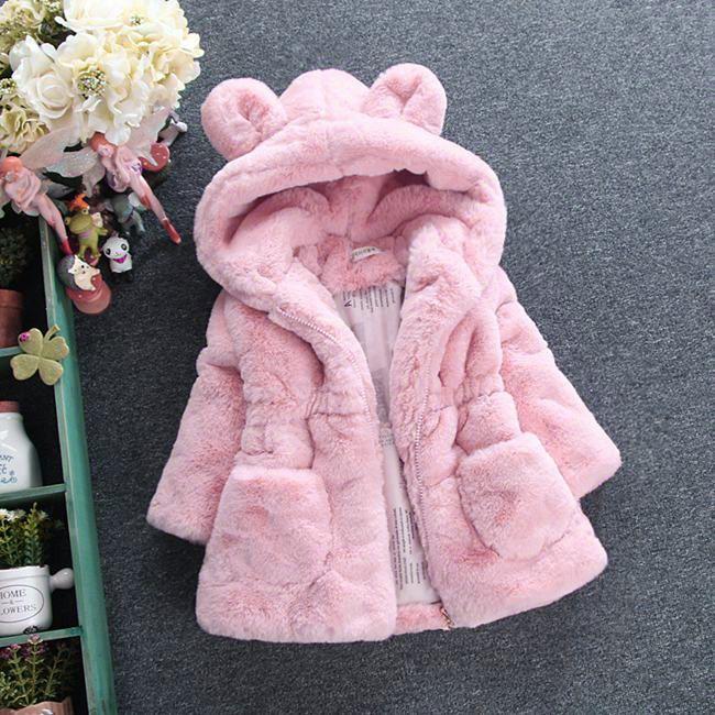 f6f7dea47 Click to Buy    infant overcoat fleece warm down jacket for girls ...
