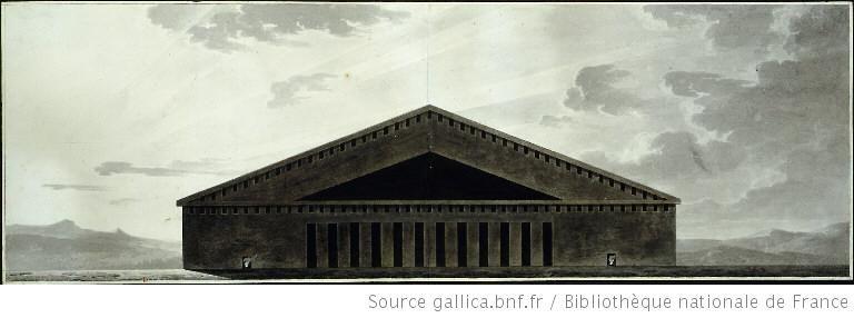 Tempio della Morte   1790 circa. Étienne-Louis Boullée