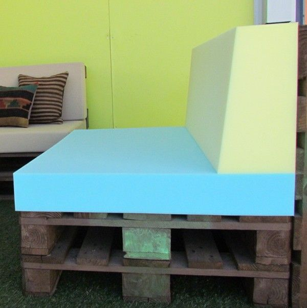 Espuma respaldo sof palet europeo architecture for Espuma a medida para palets