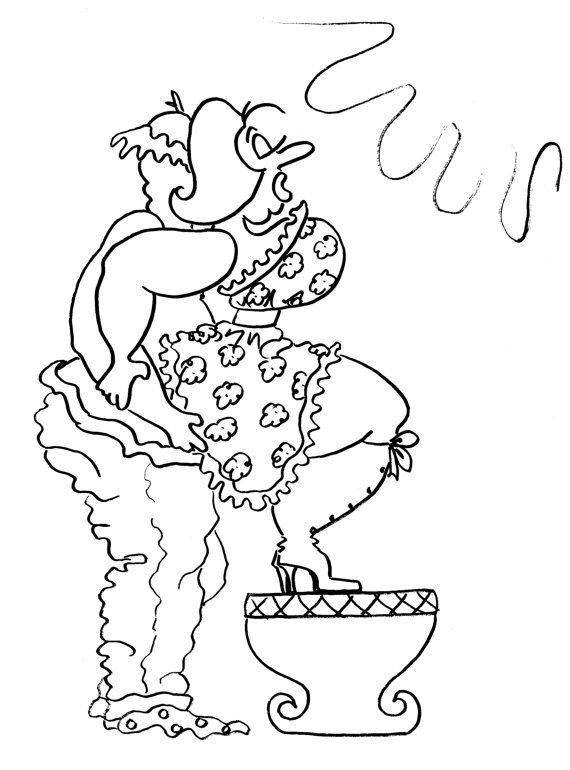 The Squat Balance Fun Sexy Coloring Pages for Adults from the