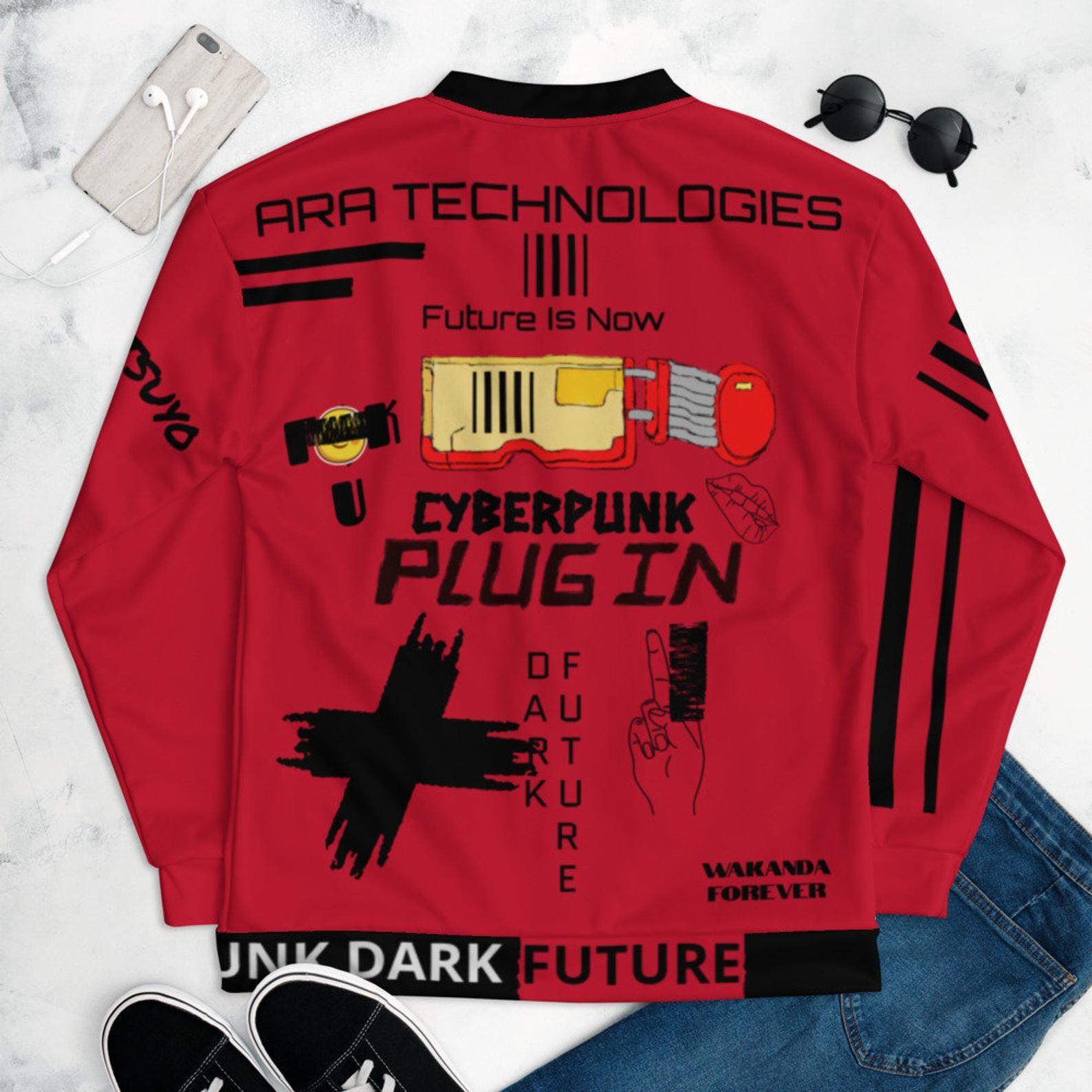 Cyberpunk Dark Future Akira Kaneda Edition Unisex Bomber Etsy Clothing Design Sketches Custom Clothes Printed Bomber Jacket [ 1588 x 1588 Pixel ]