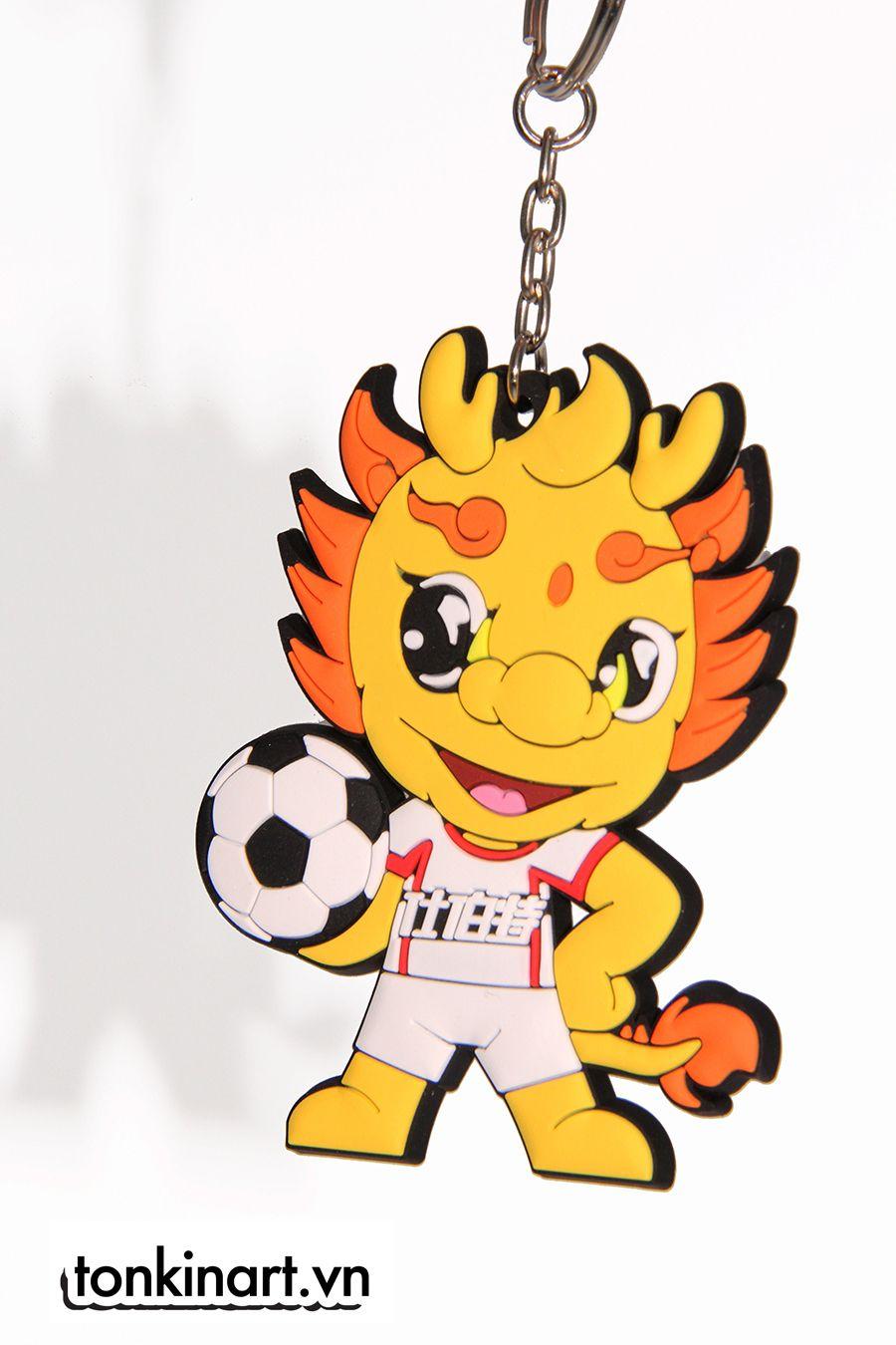 Móc khóa được khắc họa bằng hình ảnh chú sư tử ngộ nghĩnh. Đây sẽ