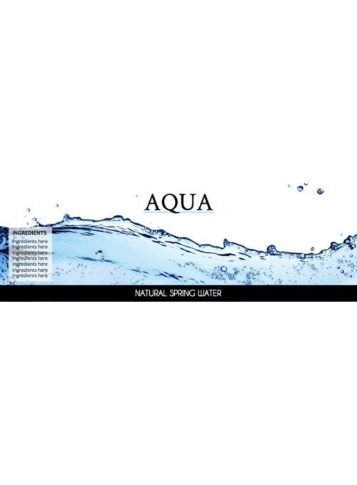 Aqua Water Bottle Label
