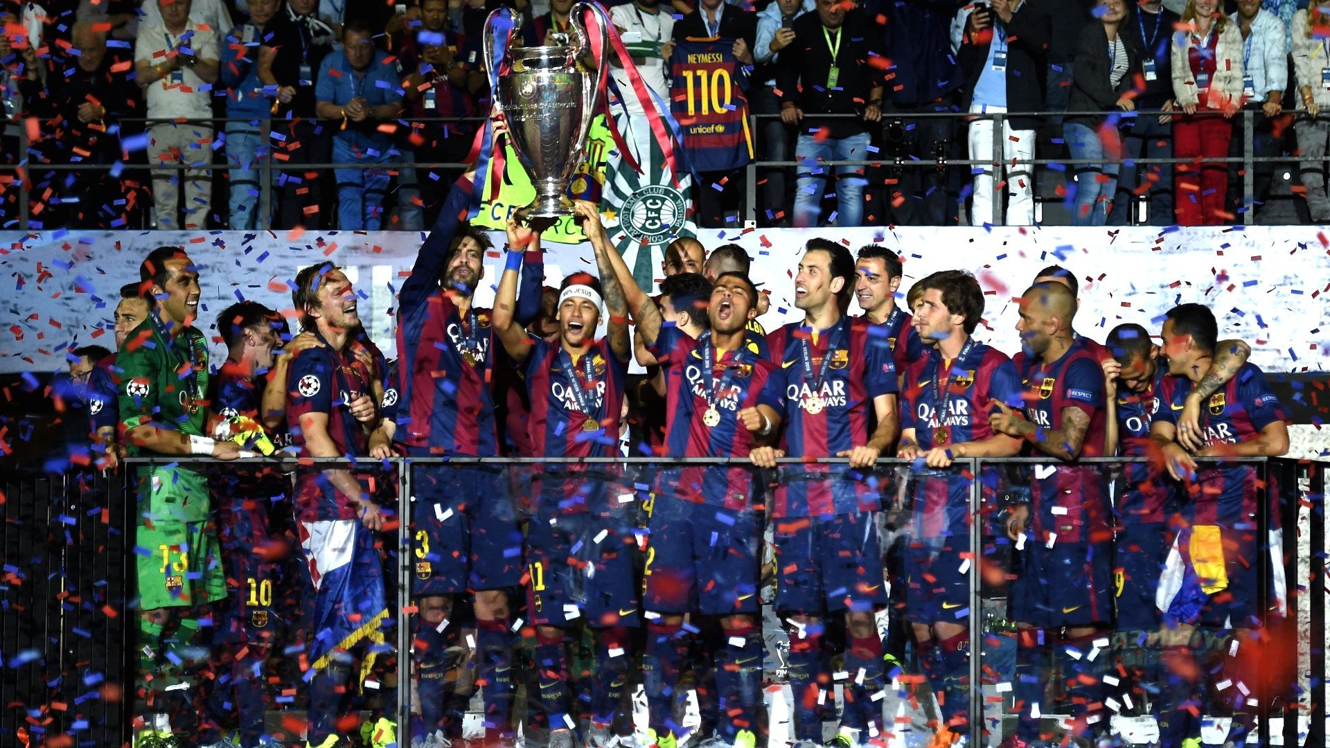 Image result for barcelona ucl trophies