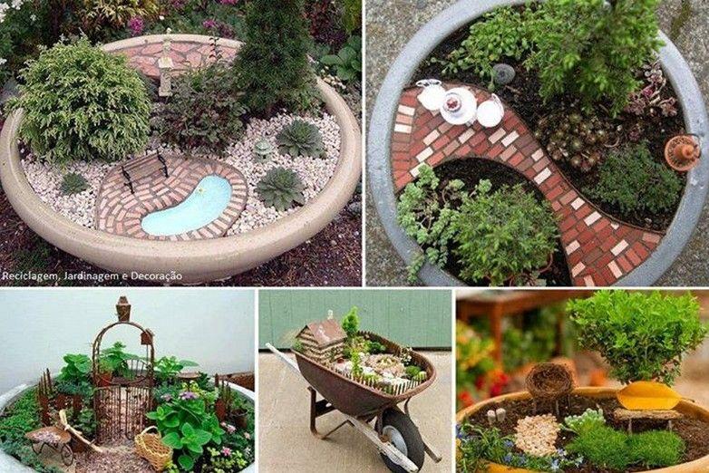 Meu Palácio de 64m²: Mini Jardins - Mini fofuras