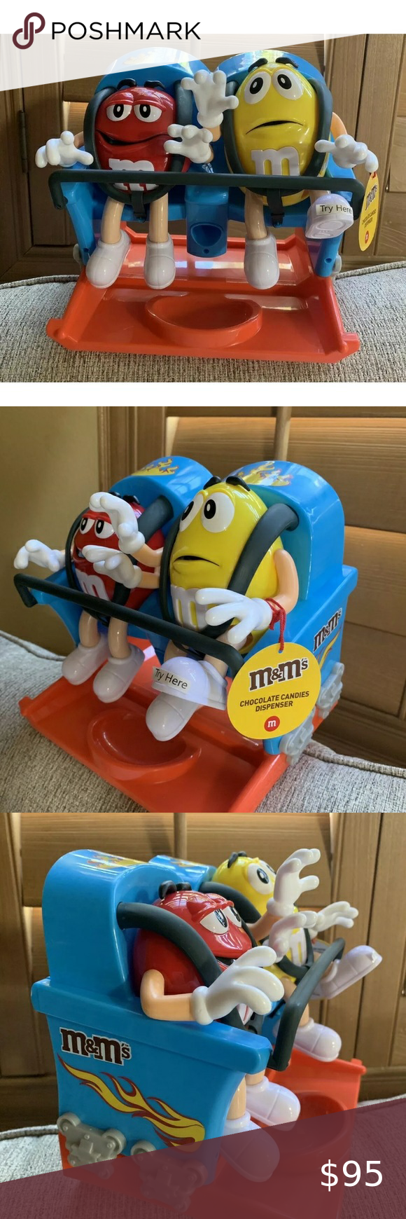 2020 M&M Candy Cane Christmas Dispenser M&M's roller coaster candy 🍬 dispenser new unused in 2020 | Candy