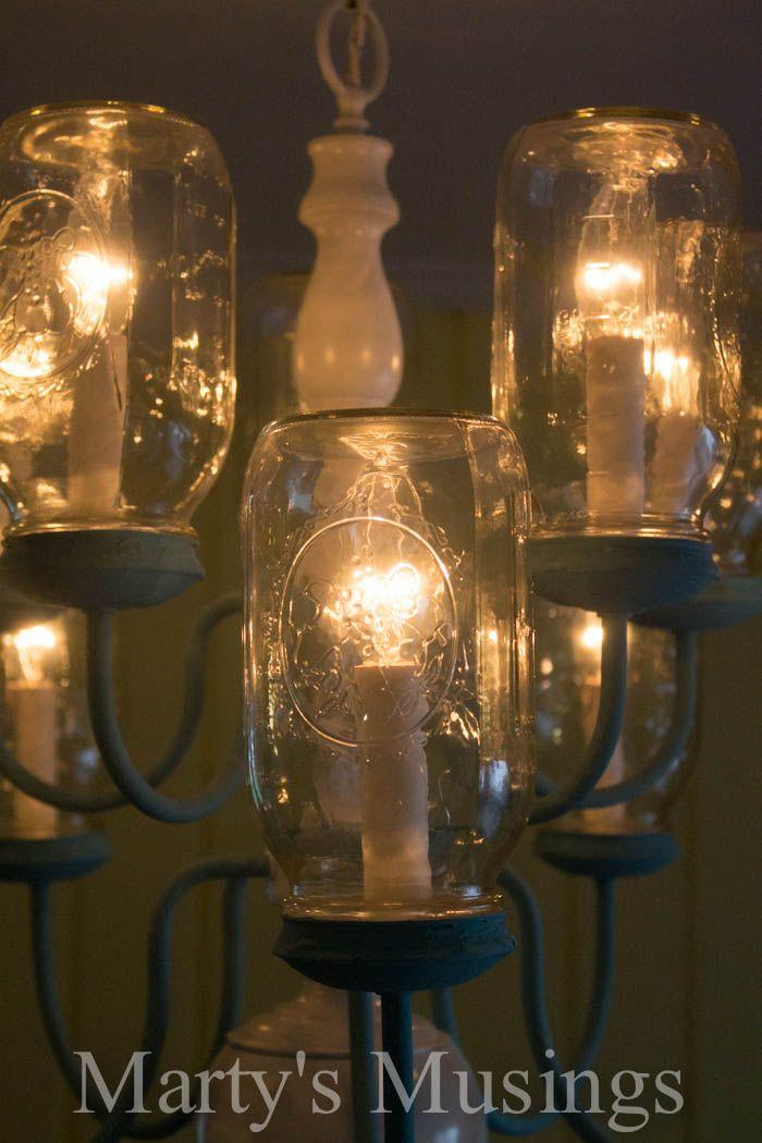 Diy Mason Jar Chandelier Step By Step Instructions Diy Ideas
