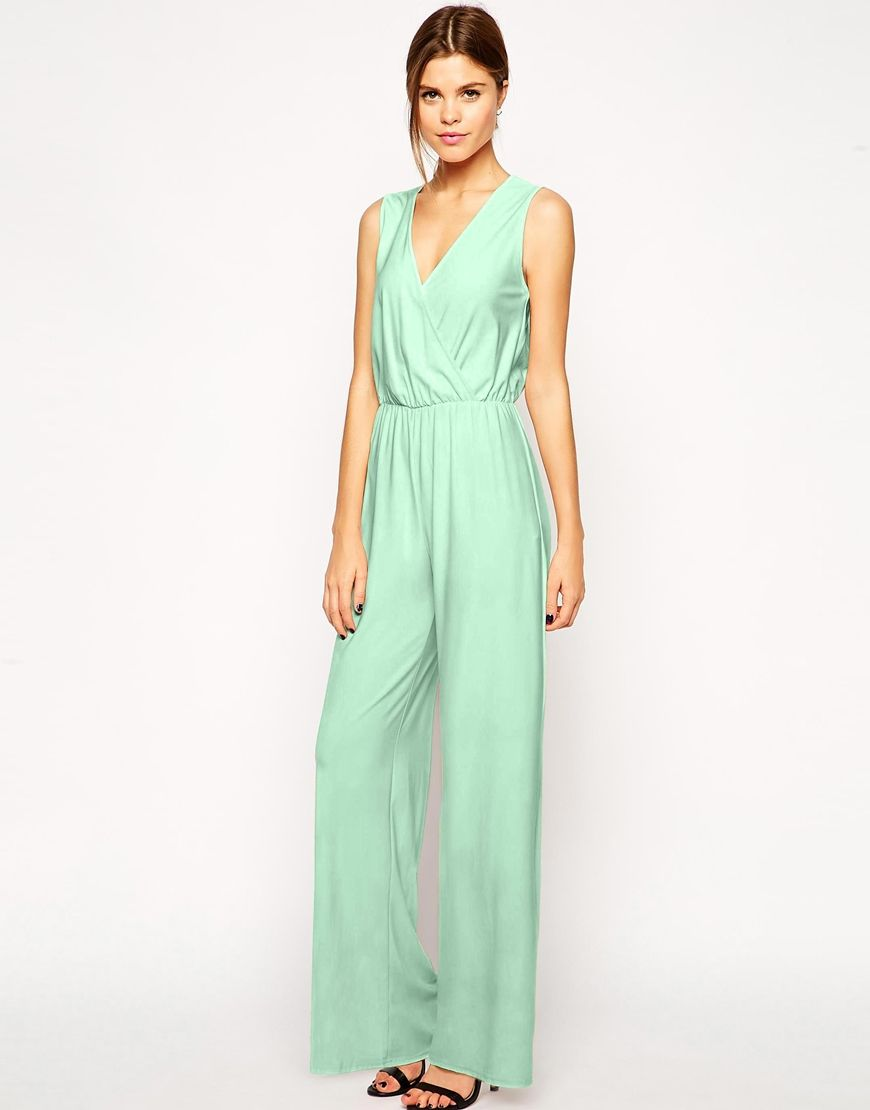 ASOS Sleeveless Jumpsuit with Wide Leg | ASOS | Pinterest | Shops