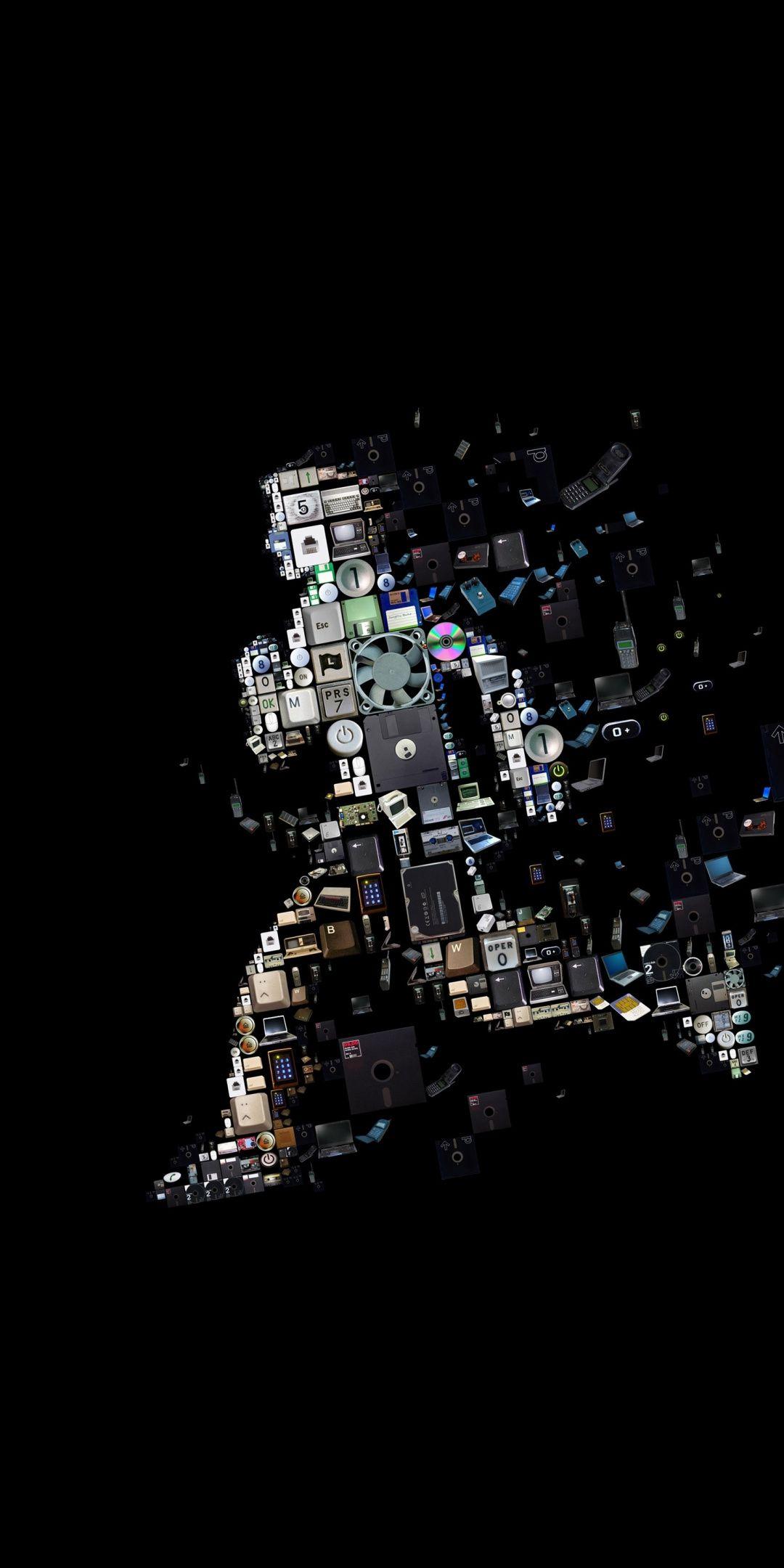Run Man Technology Art 1080x2160 Wallpaper Art Technology