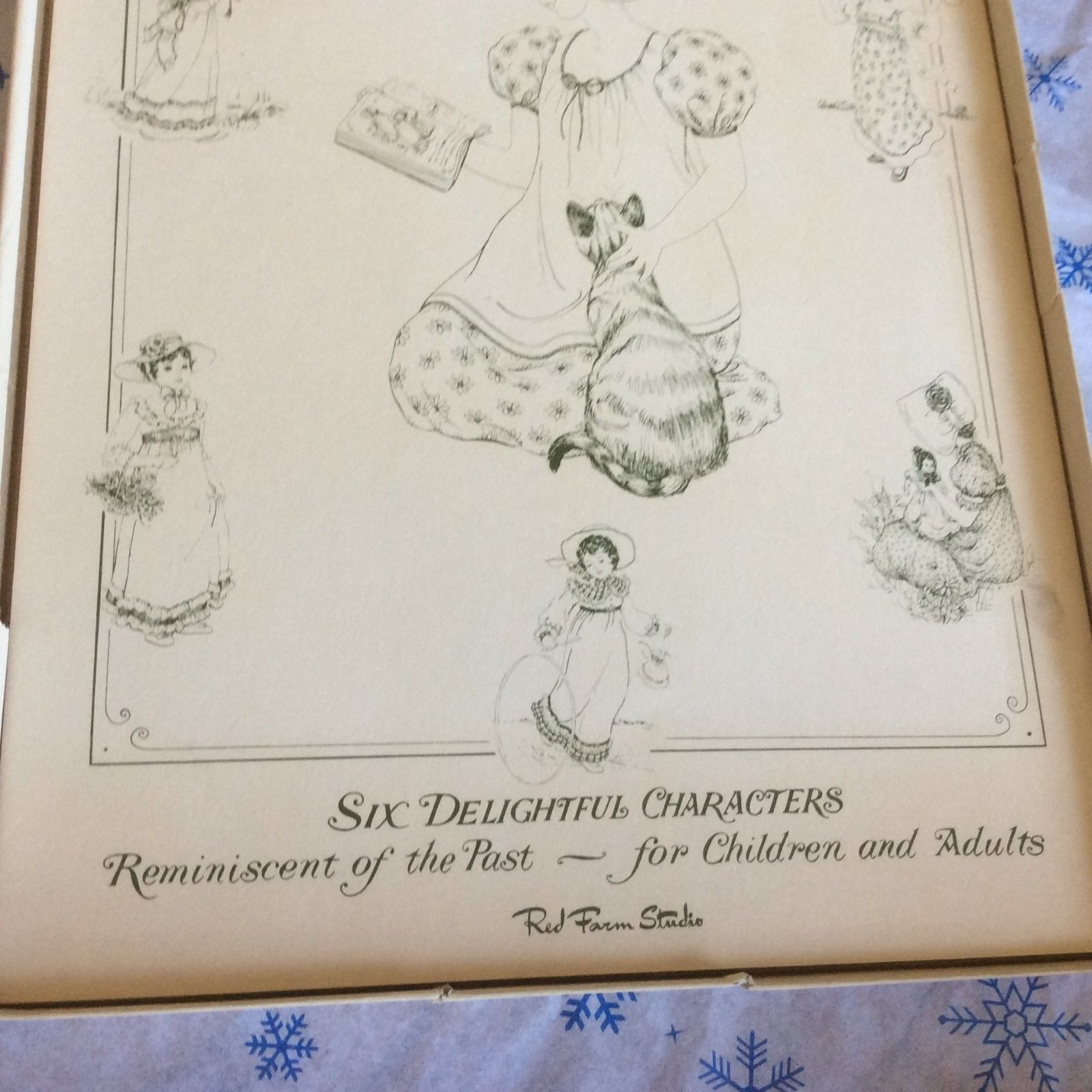 Details about VINTAGE KATE GREENAWAY COLORING BOOK Red Farm ...