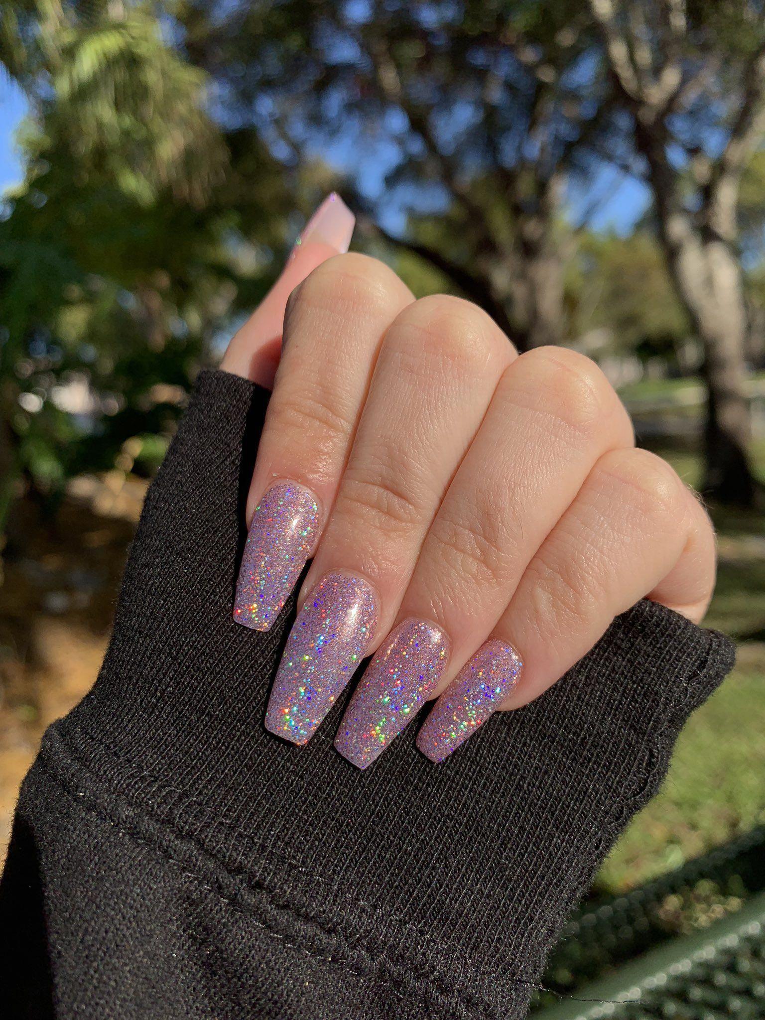 Toe Nail Tips Baking Soda Nailsforthebeach Lilac Nails Summer Acrylic Nails Long Nails
