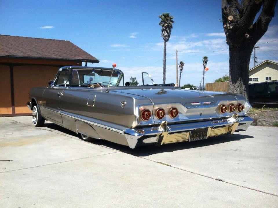 63 Chevy Impala laid.............. Lowrider cars