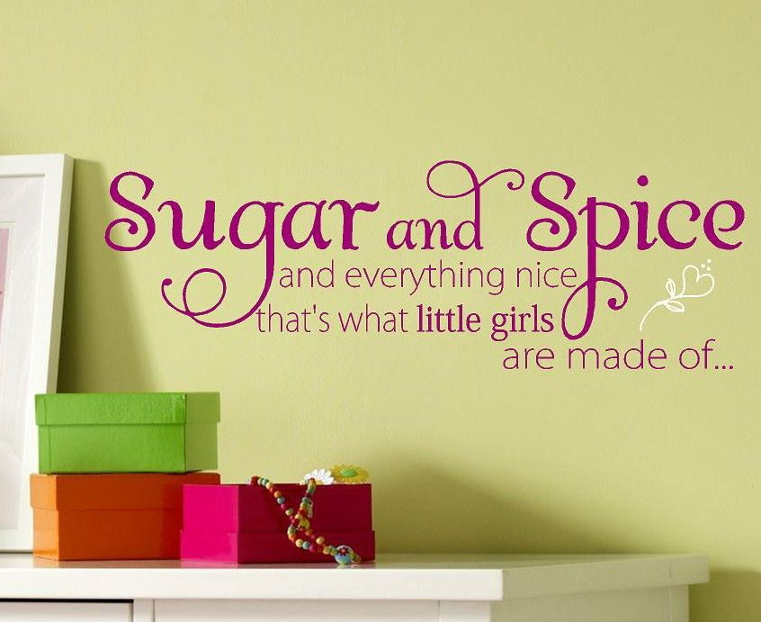 Sugar and Spice - Children kids-Vinyl Lettering wall words quotes ...