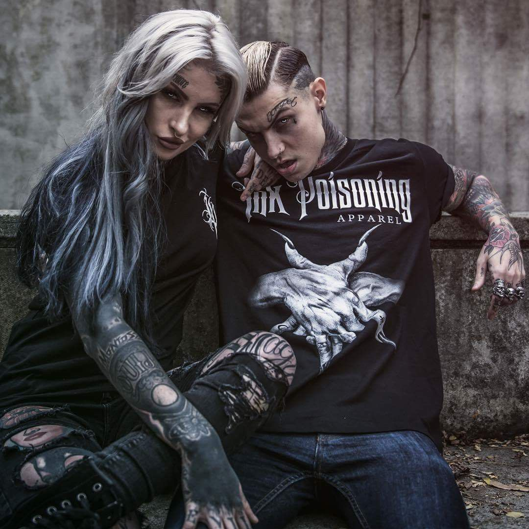 Q H Tattooed Couples Photography Male Models Tattoo Badass Aesthetic Hd wallpaper tattoo couple