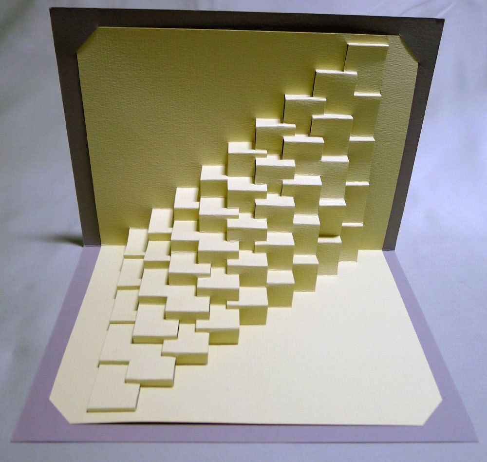 DIY Template Torsion 1 / Straight Kirigami Pop-up by Ullagami ...