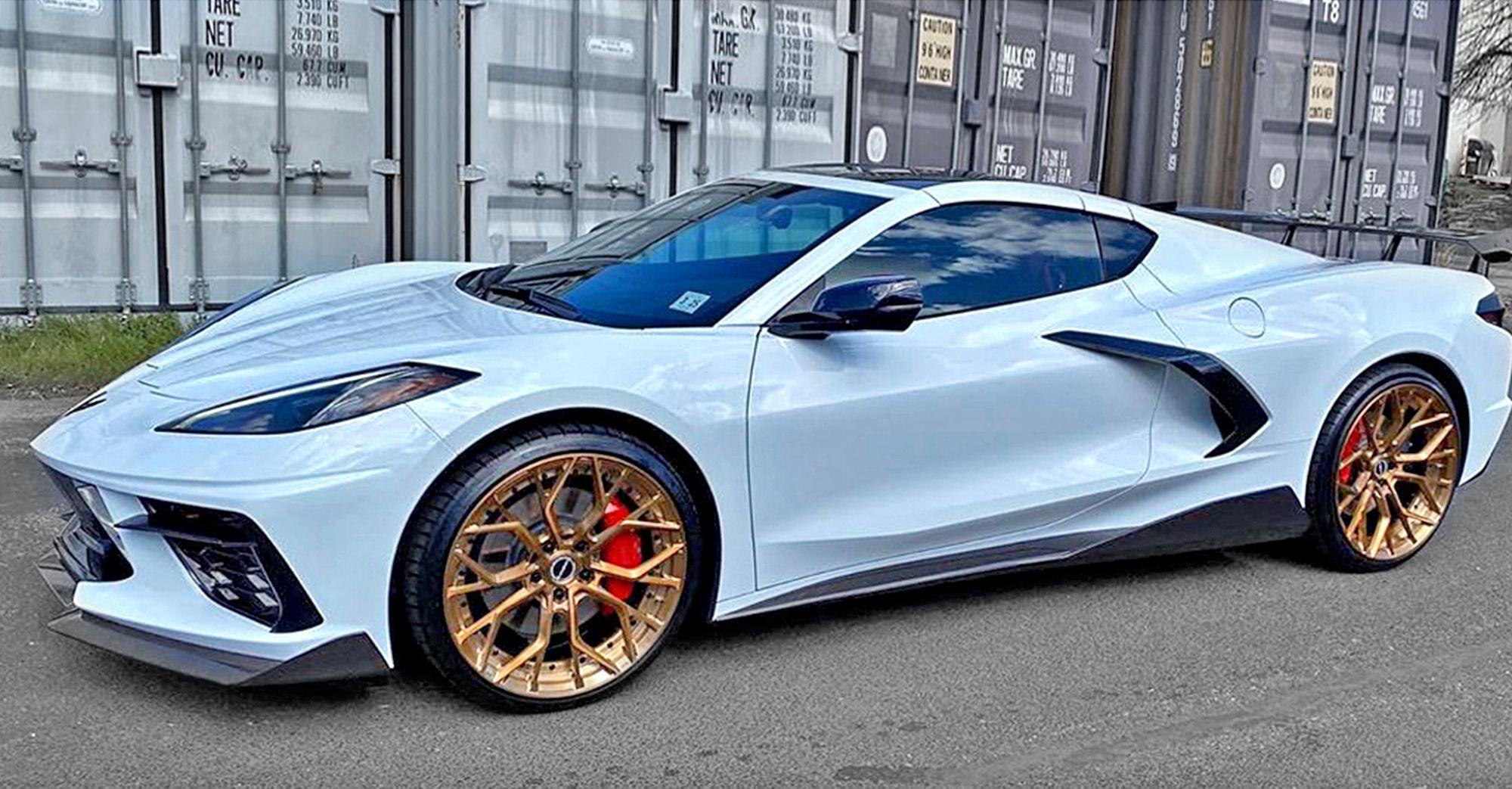 2020 corvette c8 on brixton wheels corvette