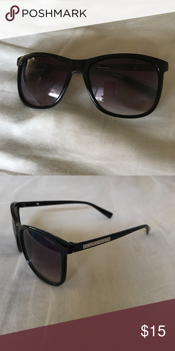 bba070708b07 Franco Sarto Square Black Sunglasses Width  6
