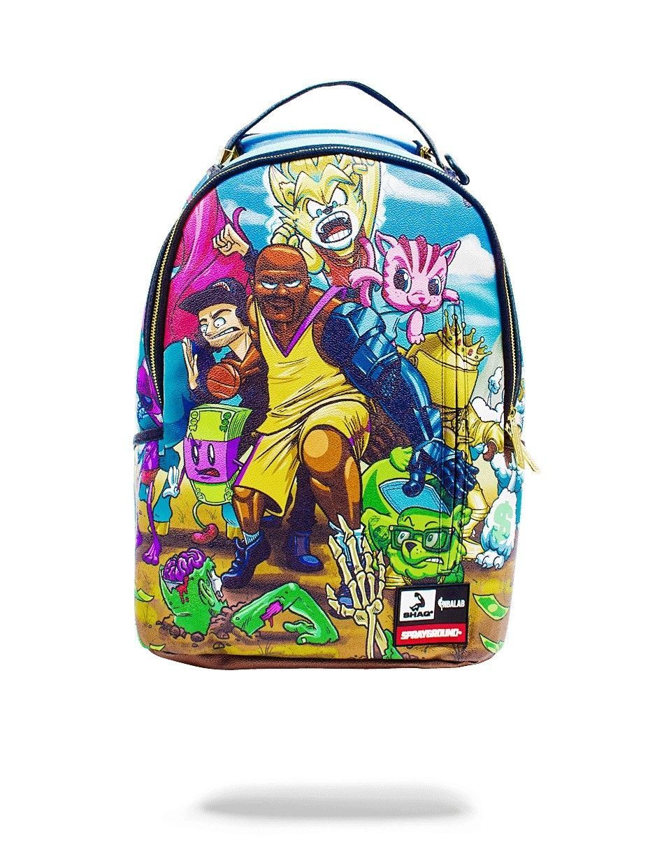 68add152788 Shaquille O Neal Shaq Shaqtin  A Fool Cartoon Sprayground NBA Backpack Bag