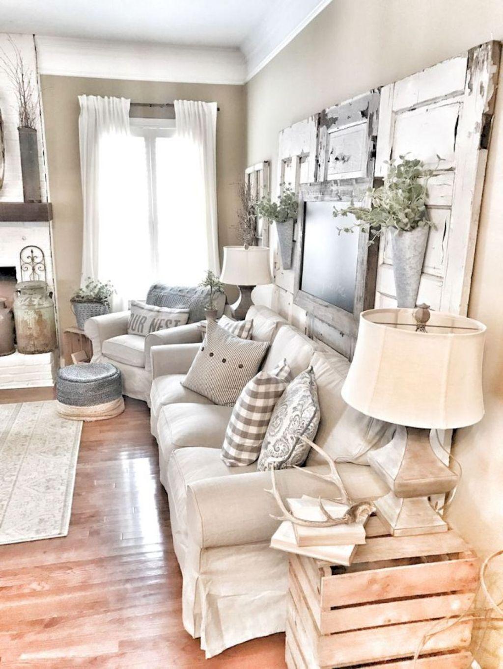 55 Rustic Modern Farmhouse Living Room Decor Ideas | Modern ...