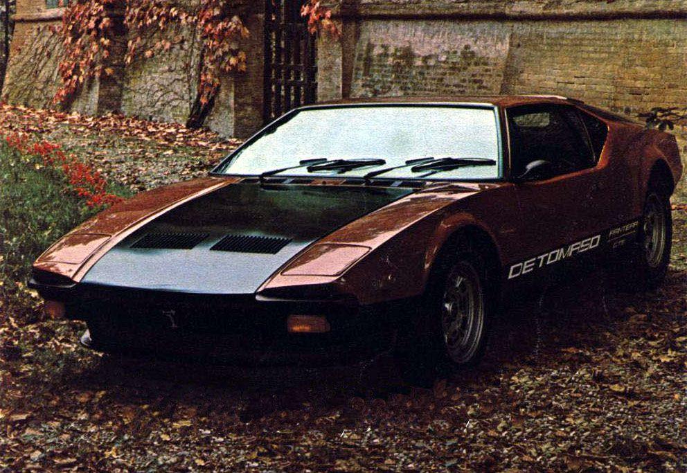 1970s Supercars De Tomaso Pantera Detomaso Super Cars