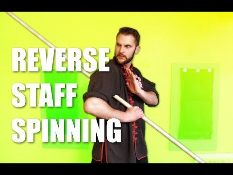 Reverse Staff Spinning Tutorial for Kung Fu - YouTube