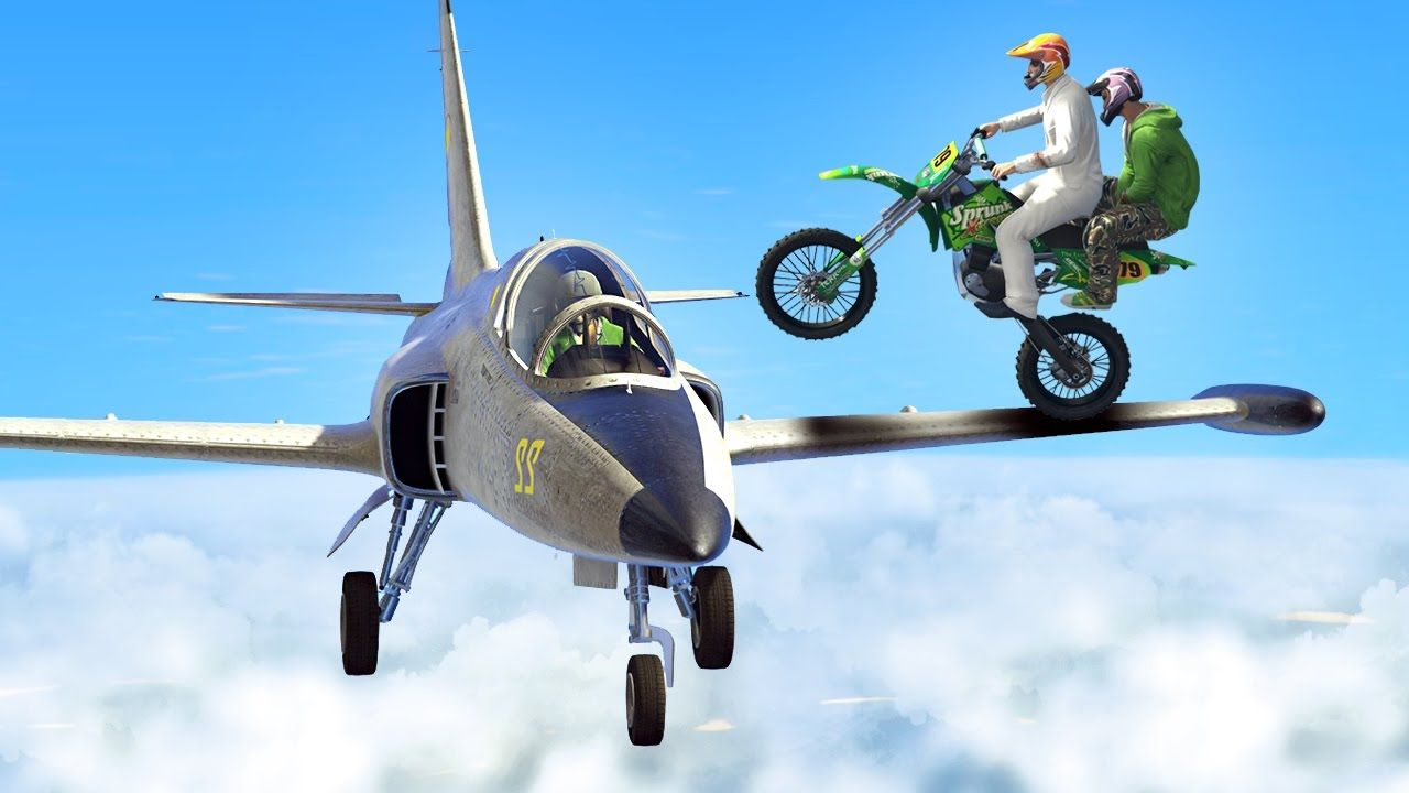 Bikers Vs Planes Gta 5 Funny Moments With Images Gta 5