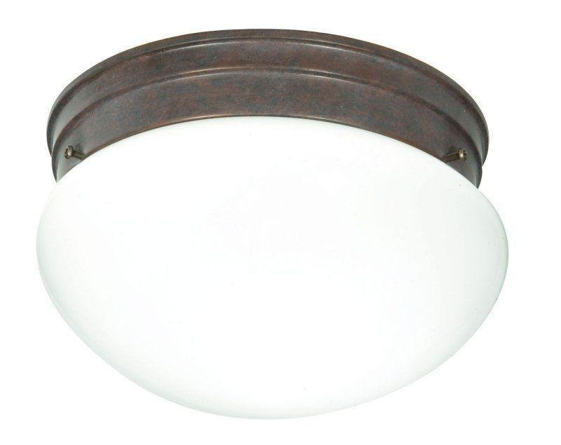 Nuvo Lighting 76/602 2 Light Flush Mount Indoor Ceiling Fixture - 9.5 Inches Wid Old Bronze Indoor Lighting Ceiling Fixtures Flush Mount