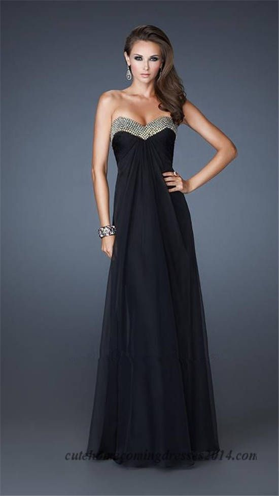 La Femme 18566 Beaded Natural Waist Long Prom Dresses Sale | la ...