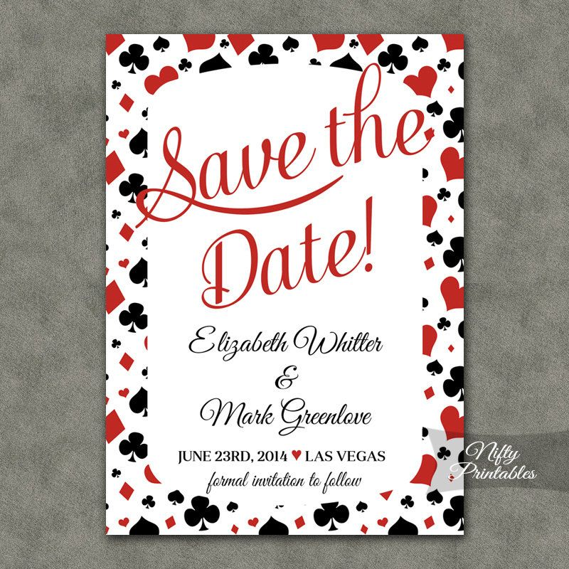 Casino Save The Date Invitations - Printable Poker Save The Date ...
