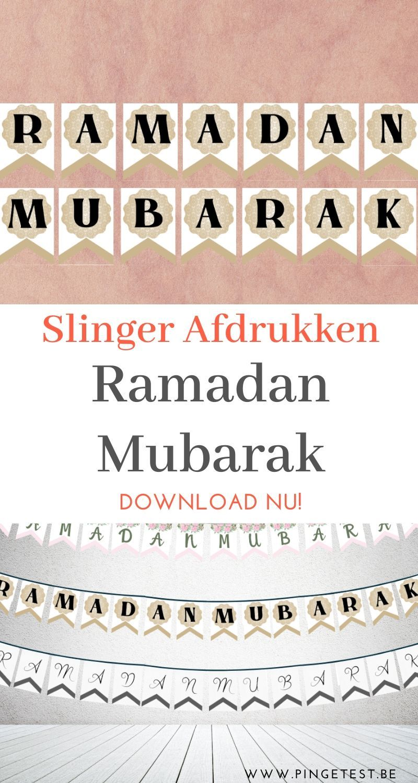 Ramadan Mubarak Slinger Printen Instant Download In Pdf Ramadan Slinger Prints