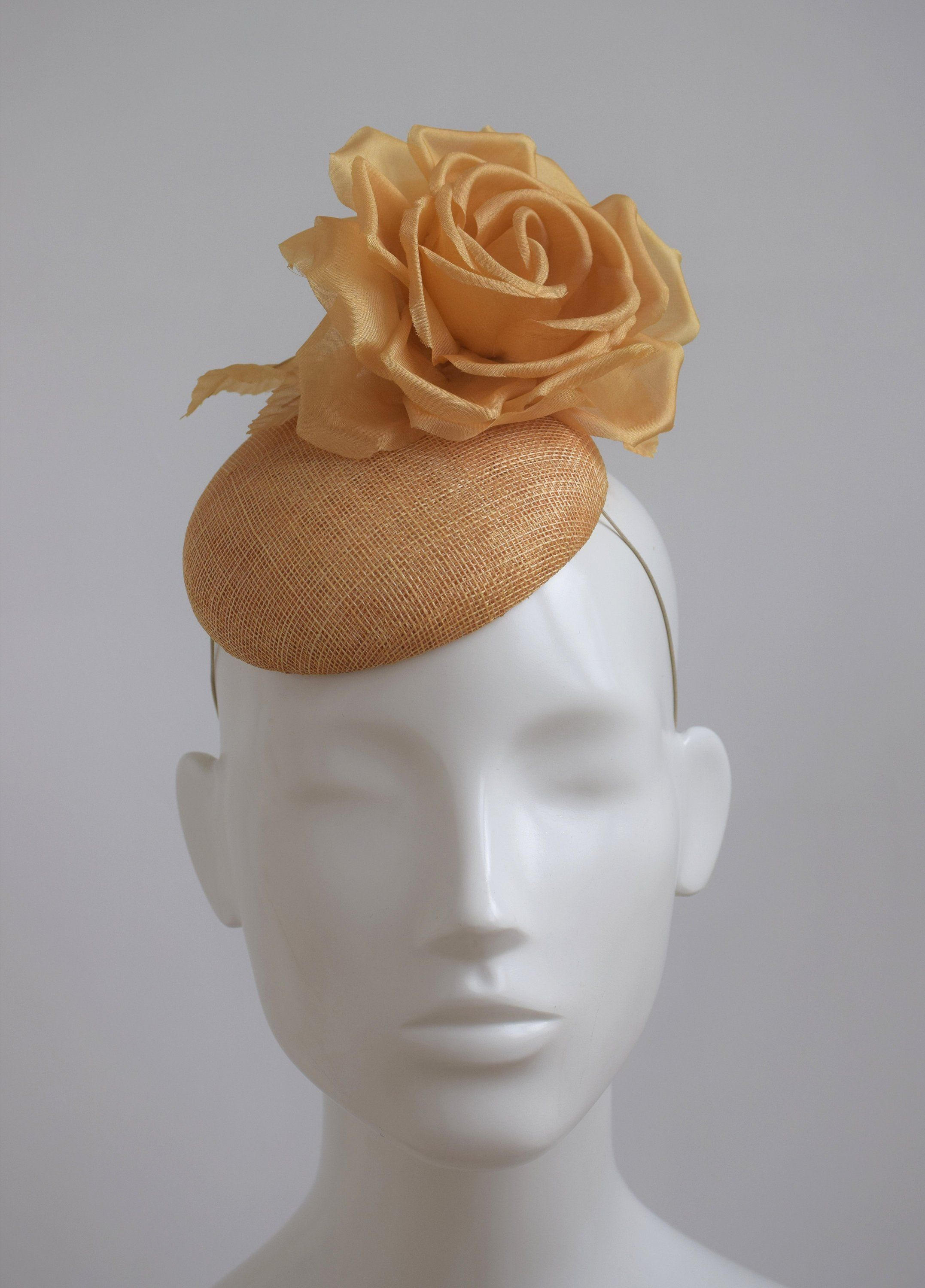 Mustard Yellow Cocktail Hat - Mustard Fascinator - Dark Yellow Wedding Hat  - Yellow Gold Hat - Gold Fascinator Hat - Mustard Yellow Pillbox by ... f67c0f515fa