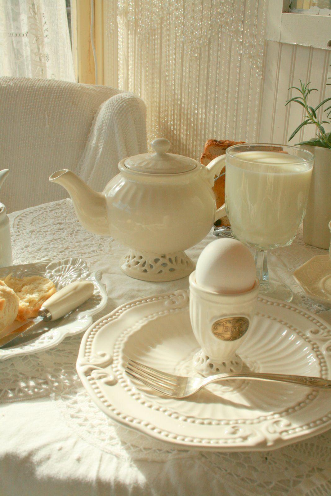 White breakfast